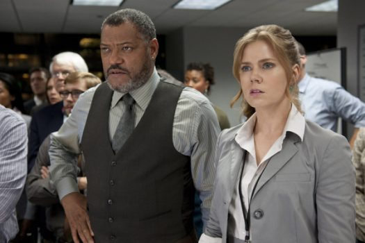 Laurence Fishburne as Perry White and Amy Adams as Lois Lane