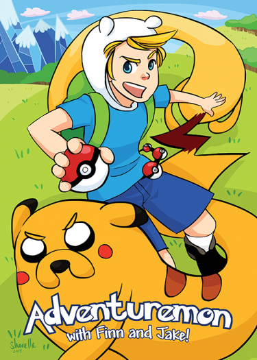 finn___jake___pokemon_au_by_shorelle-d88j83s