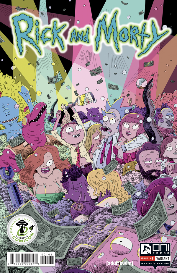 nine page preview of oni press rick and morty 1 nerdspan