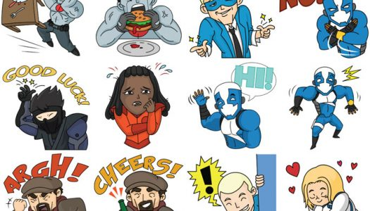 Valiant heroes emoji digital stickers now in ios app store and google play