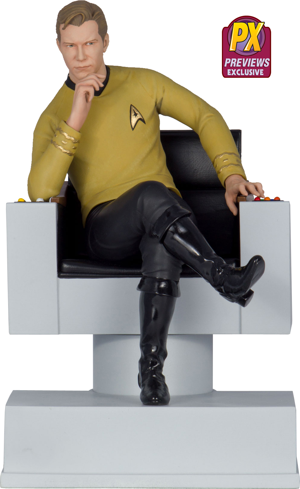 Previews Exclusive Captain Kirk Statue Bookend Coming In