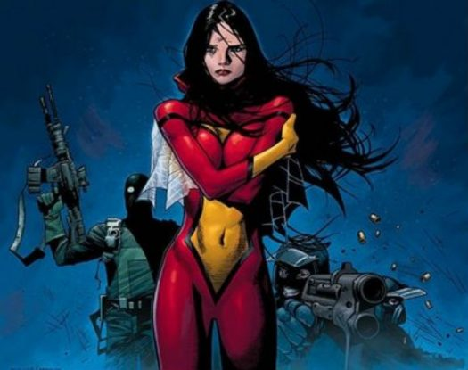 Maybe she's born with it...Also, do you know how hard it is to find a non-provocative image of Spider-Woman these days??