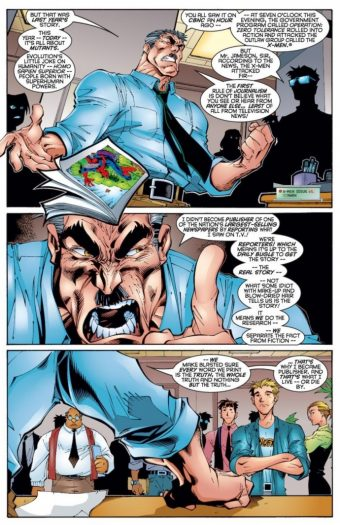The whole issues is pretty great, with JJ standing up to a massive international conspiracy.