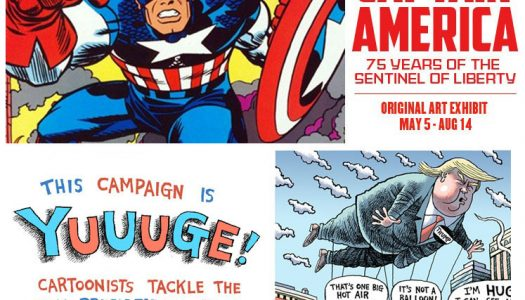 Captain America Punches Donald Trump at ToonSeum Double Exhibit (Not Really)
