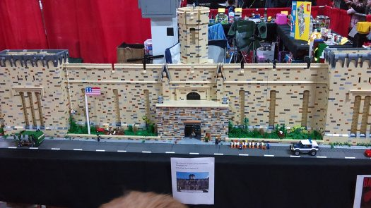 Eastern State Penitentiary looks cute in LEGO form.