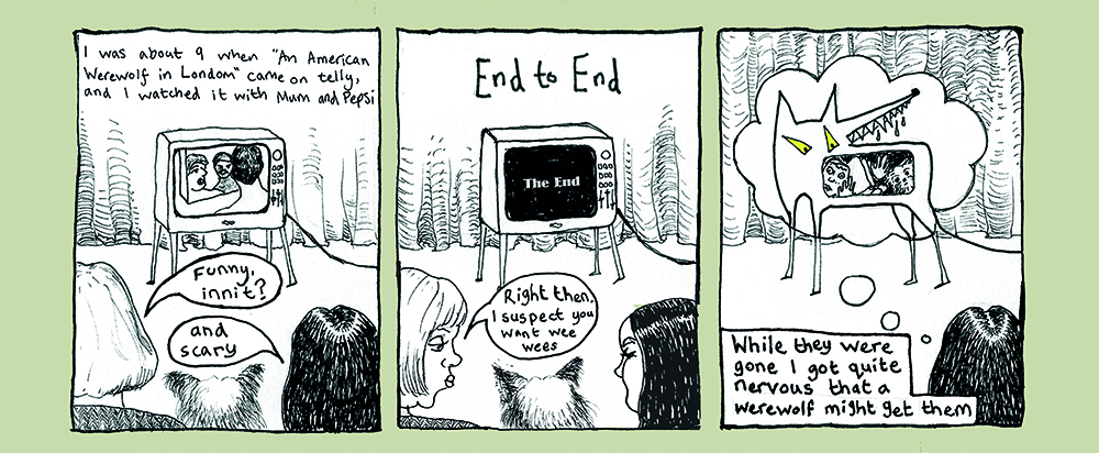 Wallis Eates - Panels from 'Fear of Mum-Death and the Shadow Men'