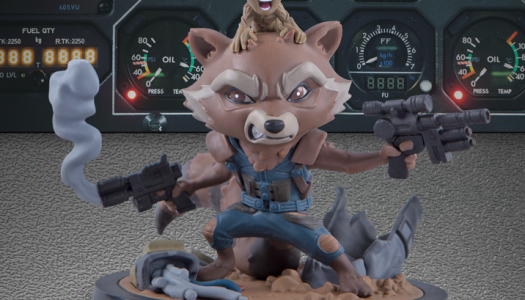 Rocket and Groot Q-Fig: 1st of 4 Guardians of the Galaxy Items in May Loot Crates