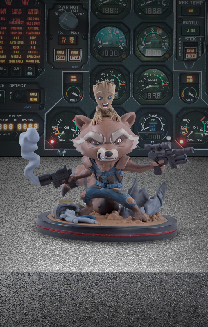 Rocket and Groot Q-Fig