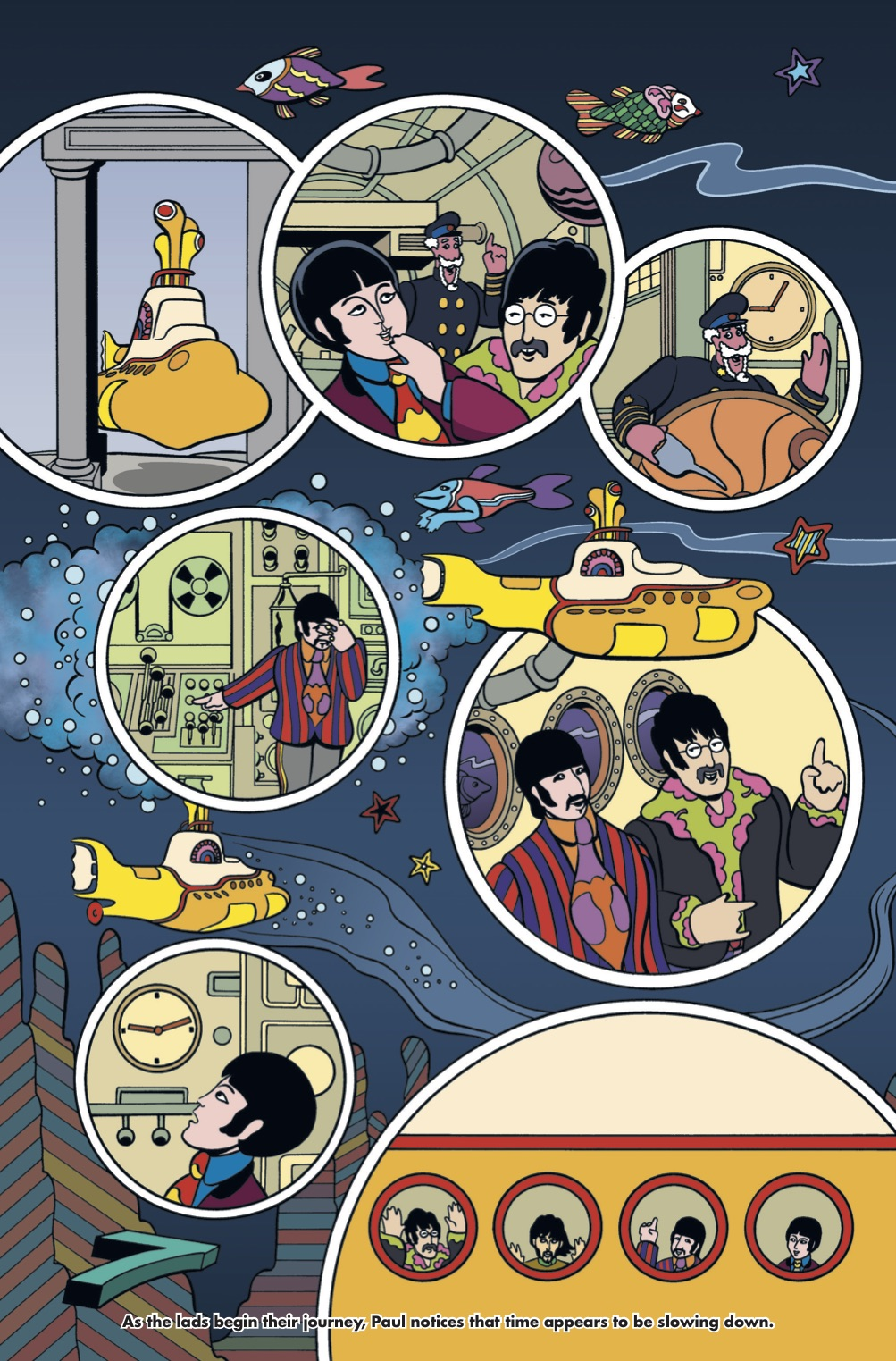titan announces 2018 illustrated adaptation of the beatles 39 yellow submarine nerdspan. Black Bedroom Furniture Sets. Home Design Ideas